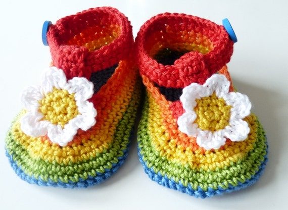 Baby Shoes Rainbow