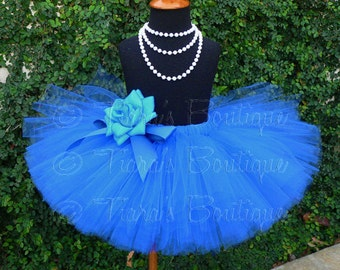 "Girls Tutu Skirt - 10"" Sewn Tutu - Ready to Ship - sizes Newborn to 5T - White, Yellow, Orange, Purple, Red, Blue, Pink, Green, Black, Brown"