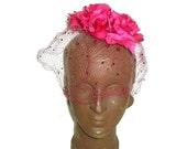 Vintage Pink Red Roses Ha...