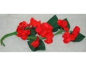 Vintage Red Flowers Milli...