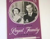 1958 Royal Family Calendar Unused