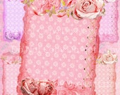 Buy 1 Get 1 Free Shabby Lace Chic Rose Butterfly Stationary Tag Frames Vintage Digital Clipart No.1 Scrapbooking Graphics Instant Download