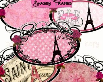 Items similar to vintage shabby chic frame set on etsy - Scrapbooking paris boutique ...