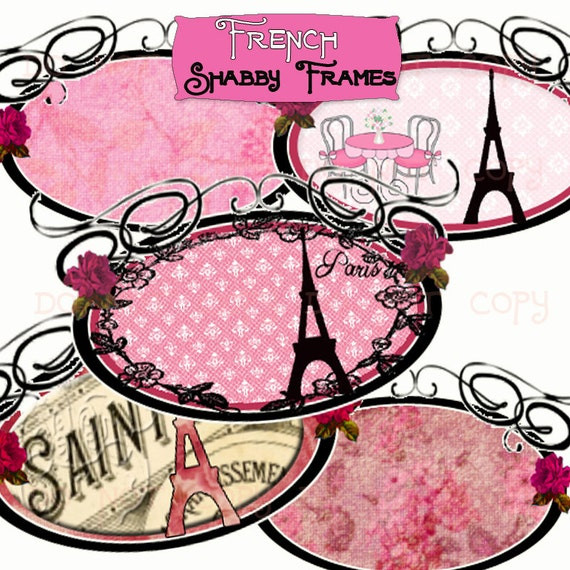 items similar to instant download shabby paris vintage boutique swirl frame tags chic labels. Black Bedroom Furniture Sets. Home Design Ideas