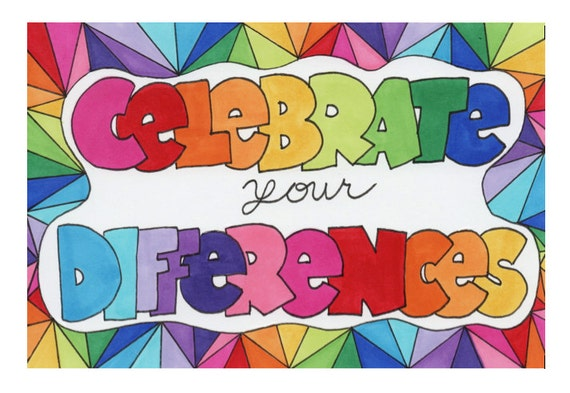 Celebrate Your Differences Original Illustration