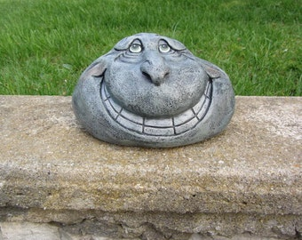 Grins the Rock - Yard Art - Garden Decor