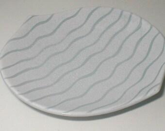 Water Dish - Japan Made Porcelain Serving Plate  - Vintage 60's