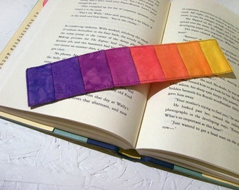 Quilted Bookmark Rainbow Stripes