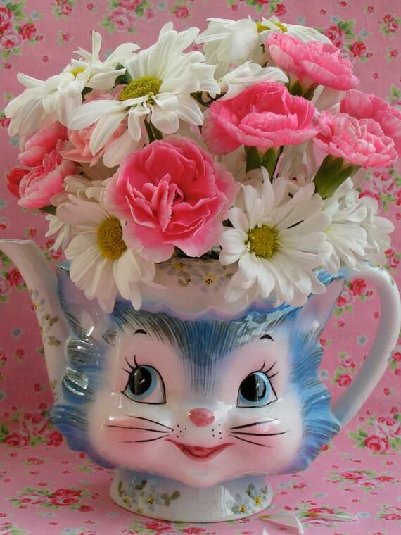 on HoLD...for Elizabeth...Vintage Lefton Miss Priss Tea Pot ...WITH A LID