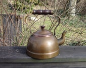 Vintage Copper Tea Kettle - Rustic Decor - Farmhouse Kitchen