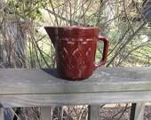 Antique Stoneware Pitcher - 1940s Brown