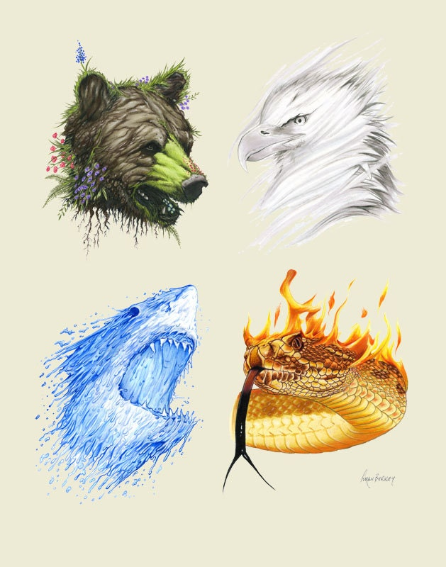 4 Elements Of Art : The four elements limited edition animal by