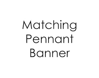 Custom printable pennant banner to match any design, birthday party banner, baby shower banner, party banner