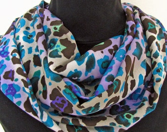 Spring Scarf Infinity Circular Women Fashion Accessory Beautiful Flowers and Colors