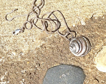 Pawleys Island Seashell Pendant Eco friendly fine silver Beach Ocean necklace rustic dainty vacation seashore