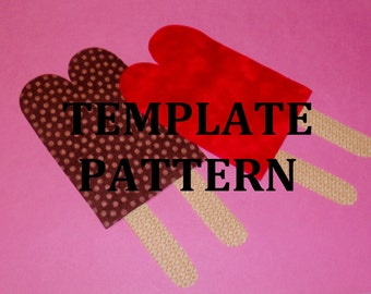 Fabric Applique Pdf TEMPLATE Pattern Only...CHUBBY TWIN Popsicle...New