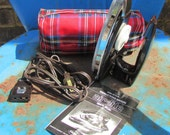 Travel Iron Franzus Travel Iron with Red Plaid Case