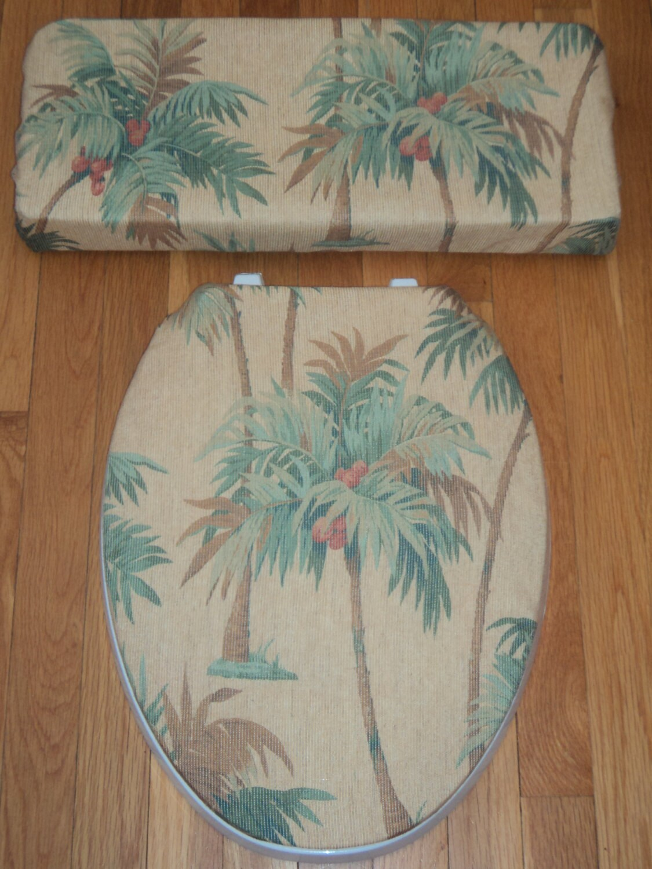 Coconut Palm Toilet Seat Cover Set