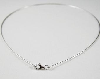 18 inch sterling silver choker chain. sterling silver omega chain. sterling silver lobster clasp.