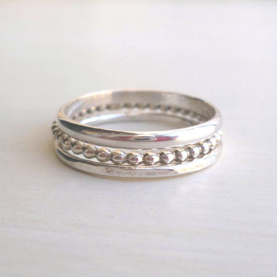 si by stacked sterling silver lisa leonard prd designs name stacking rings