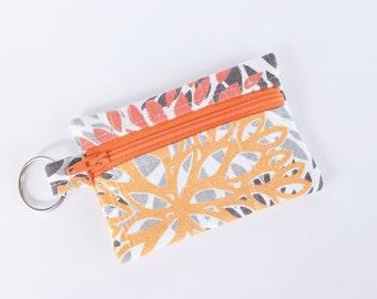 Business Card Holder, Small Zipper Pouch, Flash Drive Holder Mums