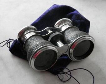 Vintage Opera Glasses - Racing Glasses - Binoculars with Velvet Case