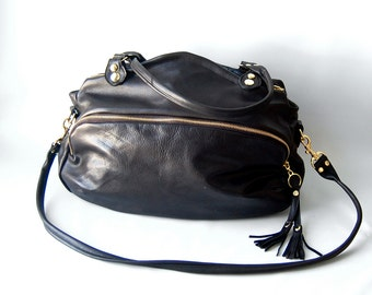 SP12 Bag in black leather