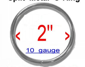 """20 PIECES - 2"""" - Metal Split O Ring, NICKEL Plate Finish, 50.8mm"""