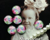 12mm Glass Dome, 8mm 10mm 14mm 16mm 20mm 25mm 30mm Round Rose glass Cabochon - BCH201N