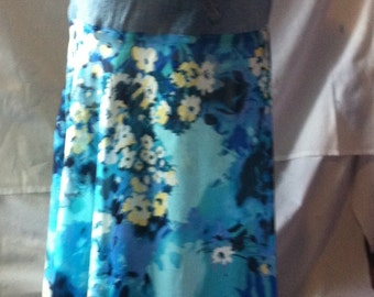 Hippie Boho Gypsy Skirt Altered Couture