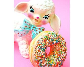 lamb donut print 5 x 7 That Looks Woolly Good