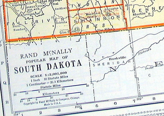 Items Similar To Texas Antique Map: Items Similar To Map Of South Dakota And Texas