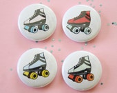 Roller Skate One Inch Button Choose Color(s)