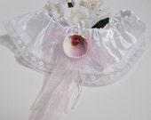 Unique Wedding Garter , Tropical Wedding , Beach Theme Wedding , Prom Garter , Nautical Bridal Garter , Brides Accessories ,  Seashell