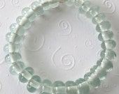Eco-Friendly Jewelry, Moonshine Beads Pale Green Recycled Glass Wine Bottle Bead Bracelet, Recycled Glass Jewelry