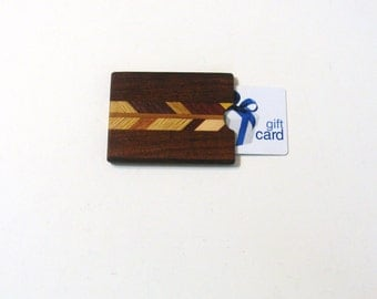 Gift card or Cash Presentation Box Made of Six Woods