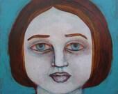 Dominique - original acrylic little portrait
