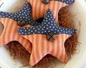 Primitive Americana star bowl fillers prim ornie tucks