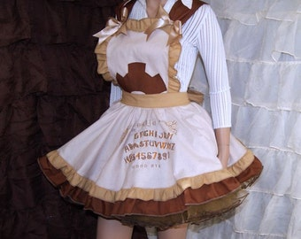 SteamPunk Ouija Board Pinafore Apron Costume Skirt Adult ALL Sizes - MTCoffinz - Ready to ship