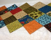 Quilted Reversible Zig Zag Table Runner