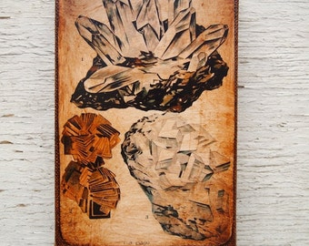 Vintage Rock & Minerals Specimens Wall   Art - Collection  B  4x6