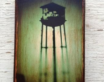 Wall Art - NYC Green  Watertower-   1 -  Photo 4x6