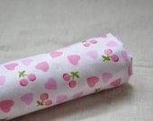 "Sale/ Sweet Pink Heart&Cherry Fabric (62""/160CM)"
