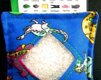 I Spy Bag - Mini with SEWN Word List and Detachable PICTURE LIST - Dino Dig