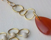 Carnelian and riverstone row counter & stitch marker set