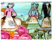 Art Print, Paper Pretty Girls
