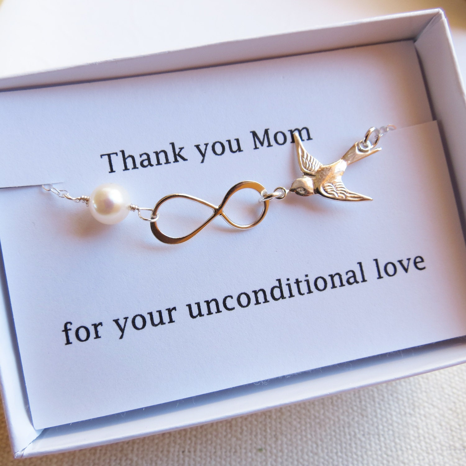 Thank You Mom Card Set Infinity Necklace Mother Of The Bride