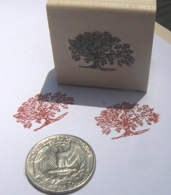 P24 Miniature tree rubber stamp WM 1x0.7