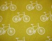 mustard yellow Echino bicycle, Japanese fabric, linen