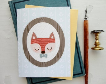 Mr Fox Note Card